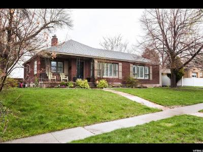 Salt Lake City Single Family Home For Sale: 1801 E Hillcrest Ave S