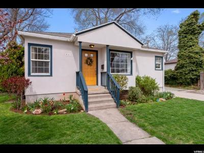 Salt Lake City Single Family Home For Sale: 661 E Harrison Ave