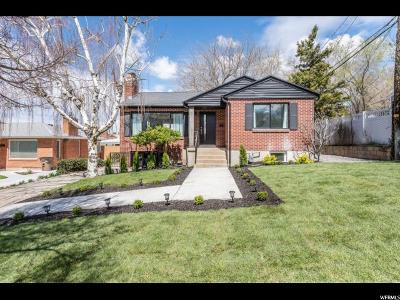 Salt Lake City Single Family Home For Sale: 2467 E Redondo Ave
