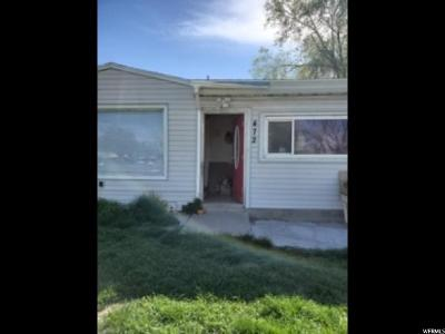Single Family Home For Sale: 472 N 1000 W