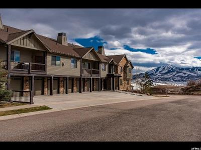 Wasatch County Townhouse For Sale: 1291 W Black Rock Trl