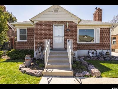 Salt Lake City Single Family Home For Sale: 2498 E 3300 S