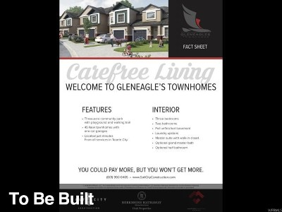 Tooele UT Townhouse For Sale: $239,900