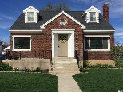 Brigham City Single Family Home For Sale: 78 S 300 E