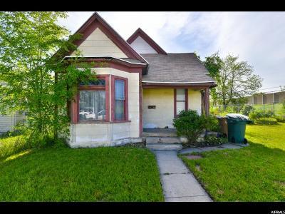 Salt Lake City Single Family Home Under Contract: 230 S Glendale St