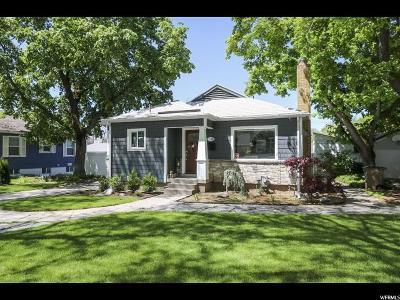 Salt Lake City Single Family Home Under Contract: 2694 S 1800 E