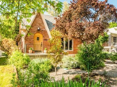 Salt Lake City Single Family Home For Sale: 1541 E Bryan Ave