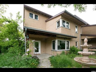 Salt Lake City Townhouse For Sale: 1411 S Utah St W #5