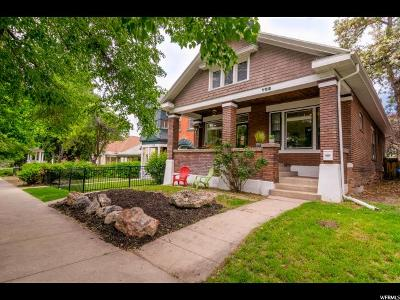 Salt Lake City Single Family Home Under Contract: 763 E 200 S