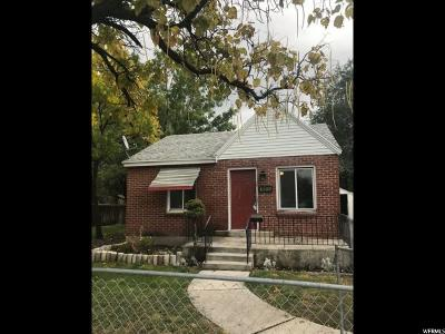 Salt Lake City Single Family Home For Sale: 1193 S 900 W