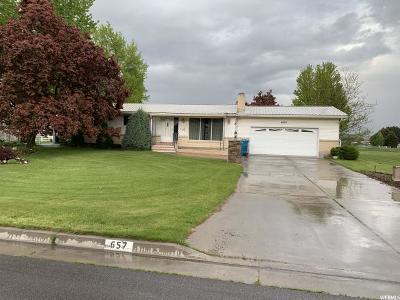 Preston Single Family Home Under Contract: 657 S 1 E
