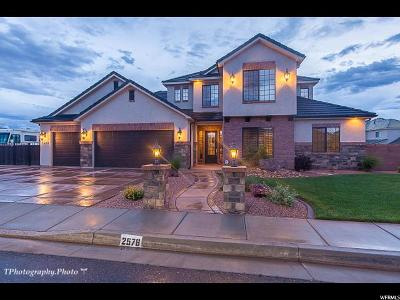 St. George Single Family Home Under Contract: 2578 S 3160 E