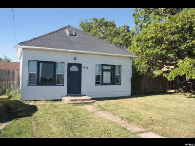 Syracuse Single Family Home For Sale: 1478 W 1700 S