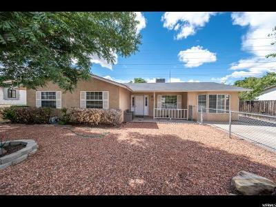 St. George Single Family Home For Sale: 1571 W 1400 N