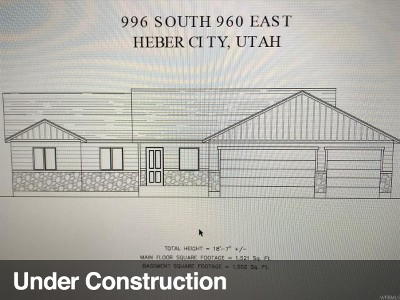 Wasatch County Single Family Home Under Contract: 996 S 960 E #17