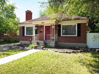 Midvale Single Family Home Under Contract: 149 W Center