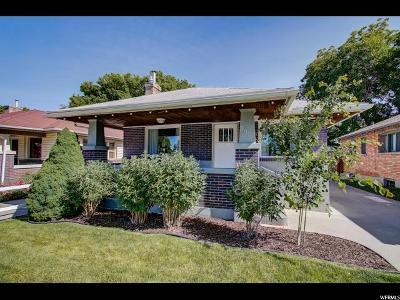 Salt Lake City Single Family Home Backup: 351 E Ramona Ave S