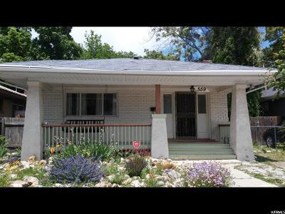 Salt Lake City Single Family Home For Sale: 559 E Ramona Ave