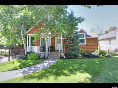 Salt Lake City Single Family Home Under Contract: 1750 E 1300 S