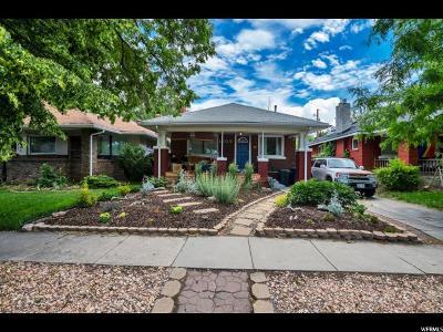 Salt Lake City Single Family Home For Sale: 1609 S 400 E