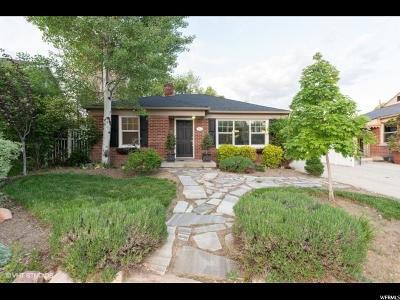 Salt Lake City Single Family Home For Sale: 2065 E Stratford Dr S