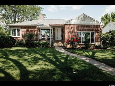 Salt Lake City Single Family Home For Sale: 3087 S 1810 E