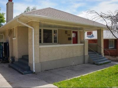 Salt Lake City Single Family Home For Sale: 1180 E 1300 S