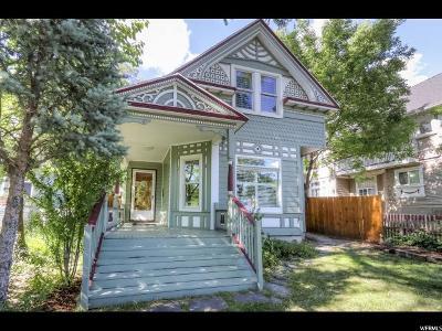 Salt Lake City Single Family Home For Sale: 821 E 3rd Ave