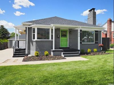 Salt Lake City Single Family Home For Sale: 1498 S 2100 E