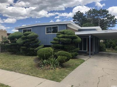 Salt Lake City Single Family Home For Sale: 1563 S Concord St