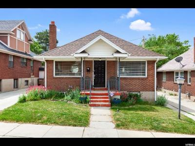 Salt Lake City Single Family Home For Sale: 1208 E Fenway Ave S