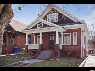 Salt Lake City Single Family Home Backup: 1016 E 300 S