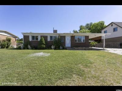 Layton UT Single Family Home For Sale: $250,000