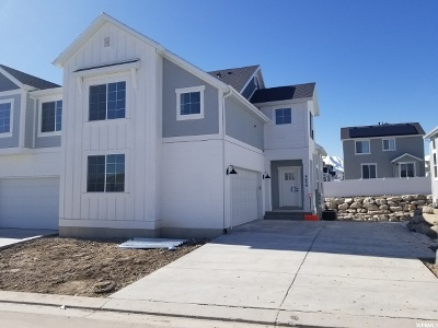 Eagle Mountain Townhouse For Sale: 9659 N Aaron Ave E
