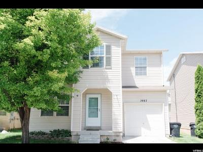 Clinton Single Family Home Under Contract: 1987 N 2165 W