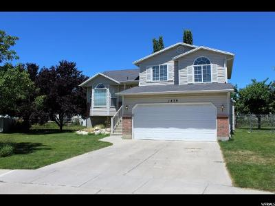 Layton Single Family Home Under Contract: 1479 N 2425 W