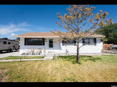 Grantsville Single Family Home For Sale: 45 N Bowery St