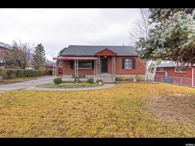 Salt Lake City Single Family Home Under Contract: 2490 E Lambourne Ave S