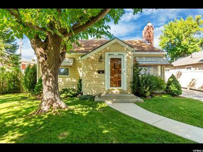Salt Lake City Single Family Home For Sale: 1813 E Kensington Ave
