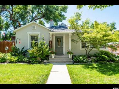 Sugar House Single Family Home For Sale: 1956 E Sylvan Ave S
