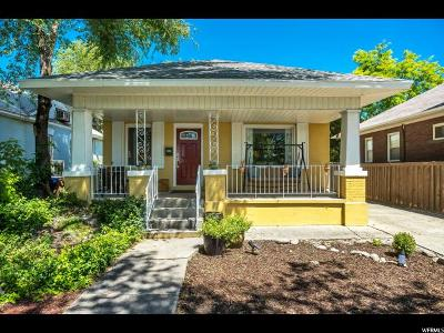 Salt Lake City Single Family Home Under Contract: 418 N 600 W
