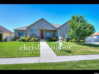 Kaysville Single Family Home For Sale: 1596 W Crestmont Way