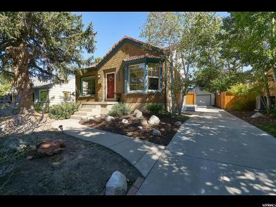Salt Lake City Single Family Home For Sale: 1669 E Garfield Ave