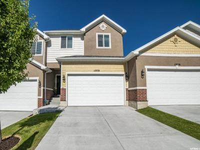 Riverton Townhouse For Sale: 11838 S Cedar Valley Dr