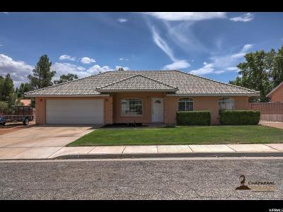 St. George Single Family Home Under Contract: 2248 E 130 N