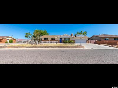 St. George Single Family Home Under Contract: 1438 W 750 N