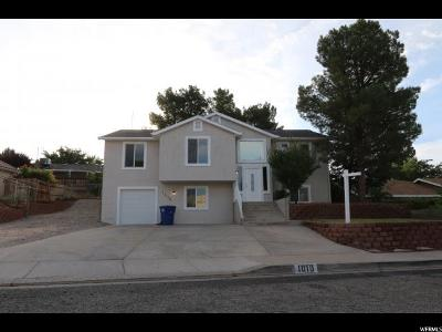 St. George Single Family Home For Sale: 1010 N 2100 W