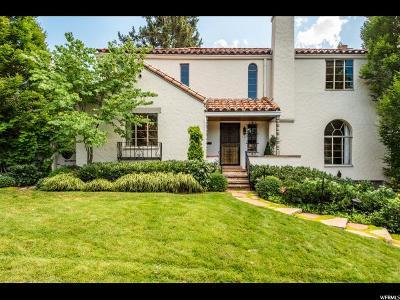 Salt Lake City Single Family Home For Sale: 1410 E South Temple