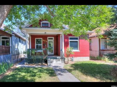 Salt Lake City Single Family Home Under Contract: 859 S Blair St E
