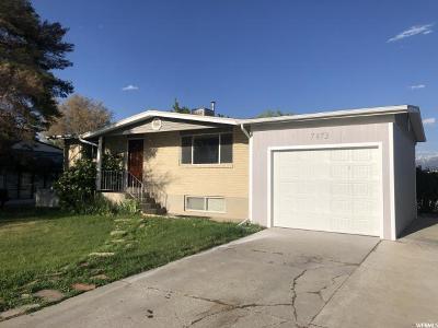 West Jordan Single Family Home For Sale: 7873 S 3725 W
